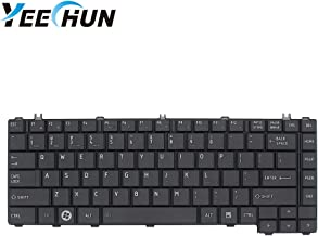 YEECHUN New Black Notebook US Keyboard for Toshiba Satellite C600 C640 C640D L635-SP3002M C645 C645D-SP4248L L635-SP3011L L635-SP3011M L745 L745D L745D Series Replacement Part Number V114246CS1