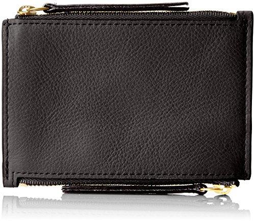 Fossil Damen Taschengeldbörse Mit Doppeltem Reißverschluss Geldbörse, Schwarz (Black), 0.97x8.57x12.38 cm