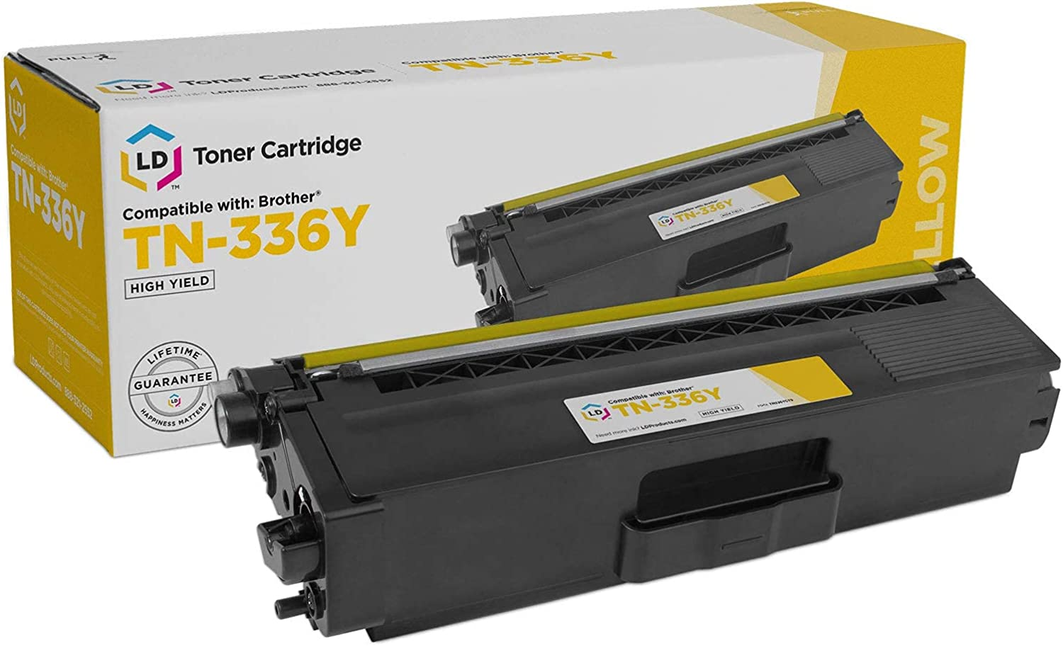 LD Compatible Replacement for Brother TN336Y High Yield (Yellow)