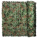 iunio Camo Netting, Camouflage Net, Bulk Roll, Mesh, Cover, Blind for Hunting, Decoration, Sun Shade, Party, Camping, Outdoor (Army Green, 49.2ftx5ft 15mx1.5m)
