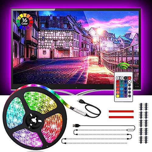 ACONDE 7.22 feet USB TV Backlight for 40-60in TV, 24 Keys Remote, LED Strip Lights for DIY Indoor Decoration