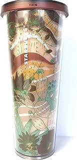 Starbucks 2019 Summer Collection Terracotta Cactus Acrylic Cold Cup Tumbler 24 oz