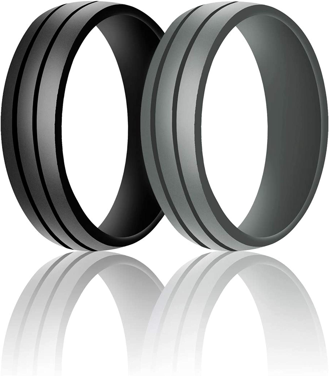 SANXIULY Mens Online limited 70% OFF Outlet product Silicone Wedding Bands for Wor RingRubber
