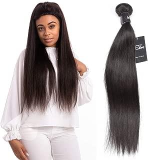 LeShine Hair Straight Human Hair Bundles 8A Brazilian Virgin Hair Weave Bundles Straight Human Hair Extensions Natural Color Hair Bundles 20 Inch