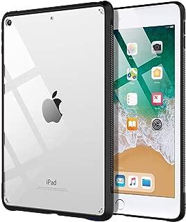 iPad 9.7 ケース TiMOVO iPad ケース 2018/2017 第6/5世代専用 9.7インチ 透明 TPU製 耐衝撃 滑り止め 軽量 精密設計 着脱簡単 保護カバー iPad 9.7 2018/2017に適用 Black