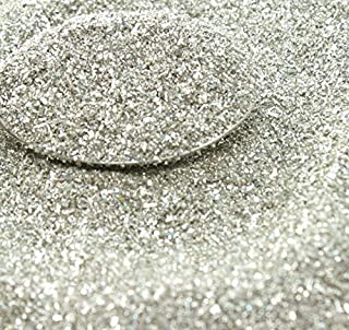 Silver Imported German Glass Glitter - 1 Ounce Jar - Fine 90 Grit (Most Popular Grain Size) Sparkly Glass Glitter - 311-9-SL