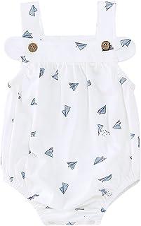 pureborn Baby Girls Bodysuit Romper Summer Outfit 0-24 Months