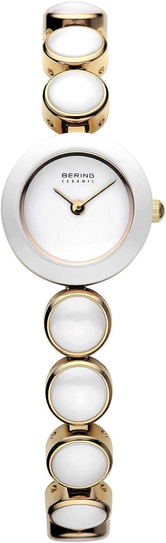 BERING Reloj Analógico Ceramic Collection para Mujer de Cuarzo con Correa en Acero Inoxidable/Cerámica y Cristal de Zafiro 33220-751