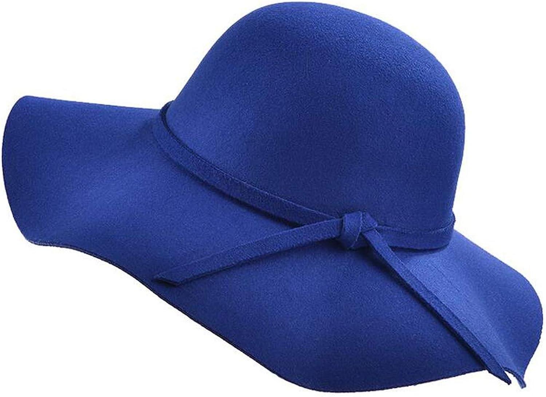 Simple Vintage Retro Kids Hats Wide Brim Cloche Floppy Sun Parent-Child Beach Cap