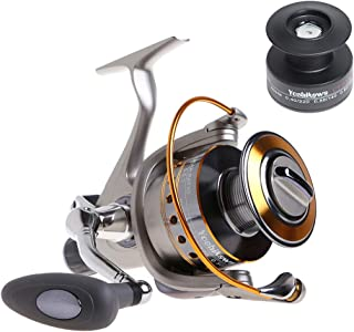 Yoshikawa Baitfeeder Spinning Reel Saltwater Freshwater Fishing 5.5:1 11 High Power Stainless Ball Bearings 30Lb Drag Right Left Hand Reversible Front Rear Drag Live Liner 3000-6000