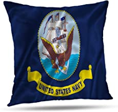 GANKE Navy Decorative Pillow Covers, Couch Cushion Covers Flag Navy Army Ship States United Marine Guard Uniform 18x18 Inch Throw Pillow Cover,Standard Pillow Case Pillowcase,Flag Navy