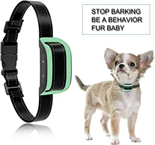 MASBRILL Dog Bark Collar Safe No Bark Control Device for Tiny Small Medium Dog Stop Barking by Sound and Vibration No Shock Human Way for Dog Lovers (Green)