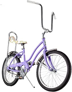 Schwinn Classic Sting-Ray Fair Lady Girl's Single-Speed Bicycle, Featuring 13-Inch/Small Step-Through Steel Frame, Rear Coaster Brake, High-Rise Ape Handlebars, and 20-Inch Wheels, Purple