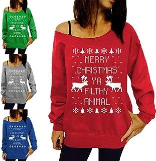 Weardear Big Sales Women Ugly Christmas Sweatshirt Long Sleeve Casual Loose Pullover Hoodie Sweatershirt