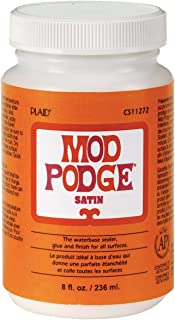 Mod Podge CS11272 Waterbase Sealer, Glue and Finish, Satin, 8 Ounce