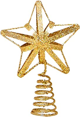 30cm Beautiful Pink Glittery Tree Top Star Christmas Tree Topper DP39a christmasshop