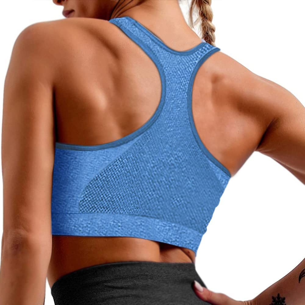 Womens Racerback Sports Bras High Impact Athletic Running Workout Yoga Padded Sports Bra at  Women's Clothing store