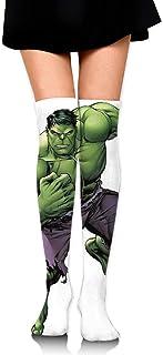 Smalaty, Calcetines deportivos extralargos para mujer con diseño de hulk