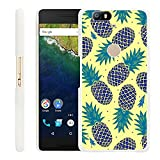 Google Nexus 6P Case Pineapples,Gifun Slim White Hard Back