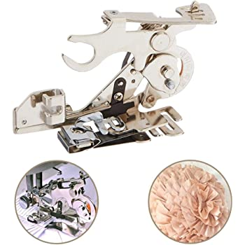 Domestic Sewing Machines Gathering Presser Foot Feet For Singer Brother Janome