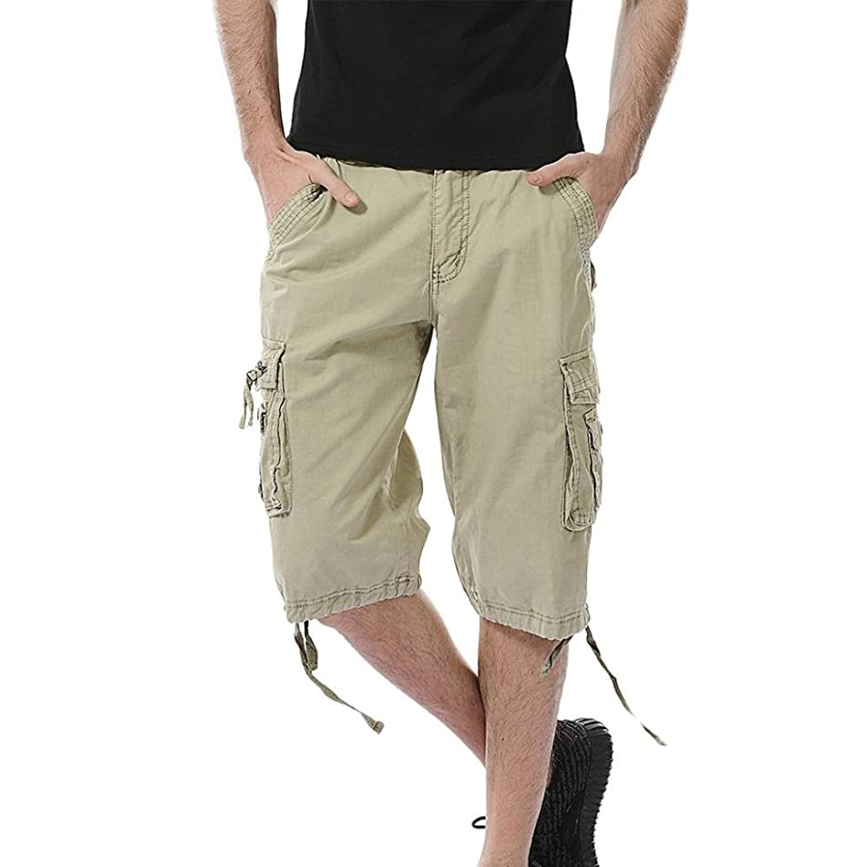 Aurorax Men's Cargo Shorts Pant, Casual Stretch Sports Fitness Gym Pants with Pocket