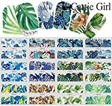 Cattie Girl Banana Leaf Water Decals Nail Art Sticker Full Cover Image Decals Nail Transfer Foils Beauty Tool 12 Designs