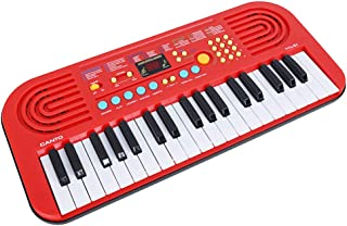 M SANMERSEN Keyboard Piano for Kids, 37 Keys Portable Electronic Keyboard Piano for Kids LED Screen Dual Speakers Piano Keyboard Toys for 3-8 Years Old Girls Boys Gifts