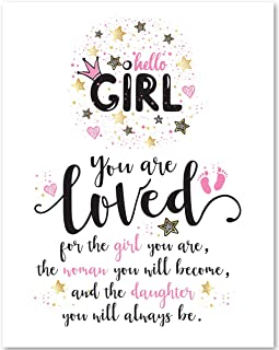 You Are Loved For The Girl You Are - 11x14 Unframed Art Print - Great Girl's Room Decor