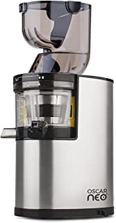 Oscar Neo XL Whole Slow Juicer - Powerful 250w Motor & 8cm Wide Chute for Whole Fruits & Vegetables - Lifetime Motor Warranty / 5 Yrs Parts + 3 Yr Commercial … (Stainless Steel)