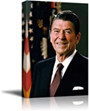 Portrait of President Ronald Reagan - Inspirational Famous People Series   Giclee Print Canvas Wall Art. Ready to Hang - 16