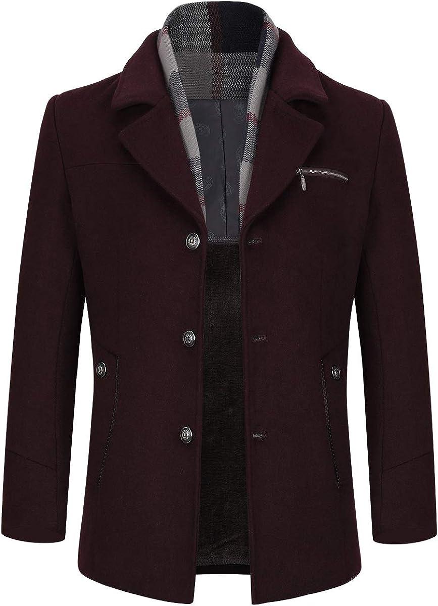 Mens Winter Thick Wool 店内全品対象 Overcoat War Jacket 正規激安 Stylish Fleece Lining