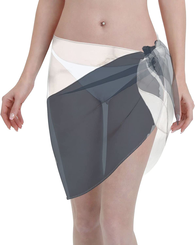 2053 pants Midnight Marble Women Chiffon Beach Cover ups Beach Swimsuit Wrap Skirt wrap Bathing Suits for Women