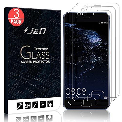 J&D Compatible para Huawei P10 Plus Protector de Pantalla, 3-Pack [Vidrio Templado] [NO Cobertura Completa] Cristal Templado Protector de Pantalla para Huawei P10 Plus - [No para Huawei P10/P10 Lite]