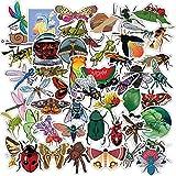 Pegatinas de insectos naturales para niños, calcomanías impermeables de animales divertidos, mariposa, Araña, bricolaje, para teléfono, equipaje, portátil, coche,150 Uds