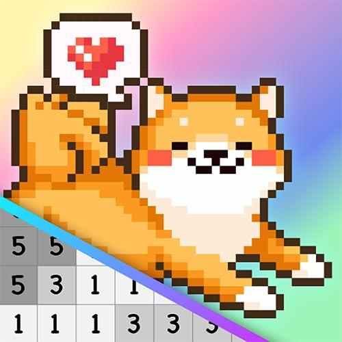 Kawaii Pixel Coloring Book