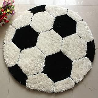Kids Rug Soccer Round Rug Carpet Floor Chair Mat for Kids...