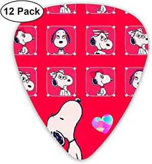 LIUYAN Snoopy Guitar Picks Customized Fashion 12 Pack Picks for Musical Instruments