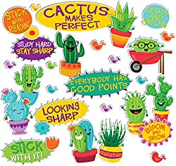 Eureka Has A Bright Bulletin Board Set With Lots Of Great Slogans Cactus Makes Perfect Might Be Stretch But There Are Plenty Others And Who