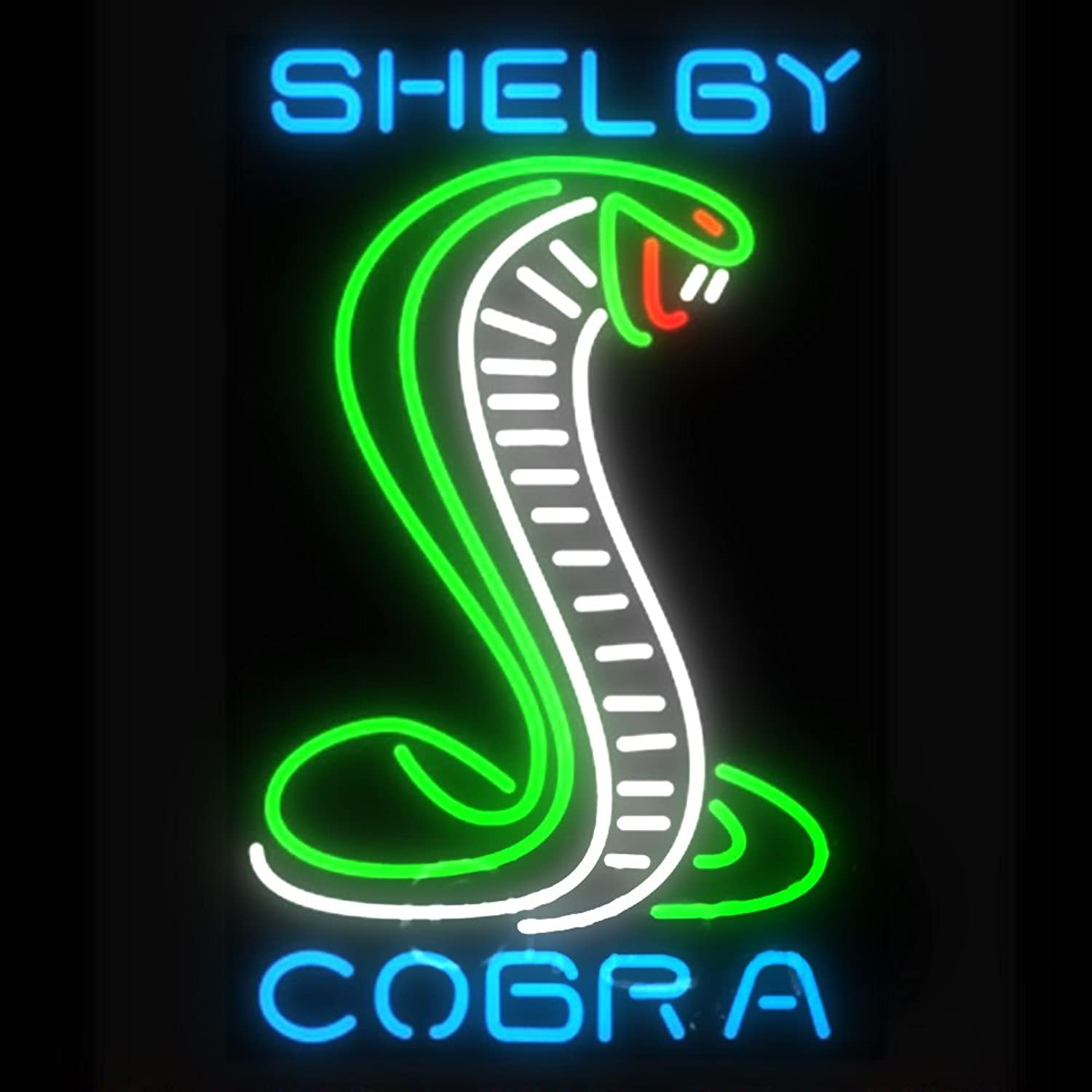 Green Shelby Cobra Beer Bar Pub Store Party Room Wall Windows Display Neon Signs 19x15