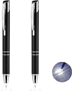 Penyeah Pen with Light, Pen Light Flashlight, Lighted Tip Pen Light for Nurses, LED Lighted Pen for Writing in The Dark 2pack - White