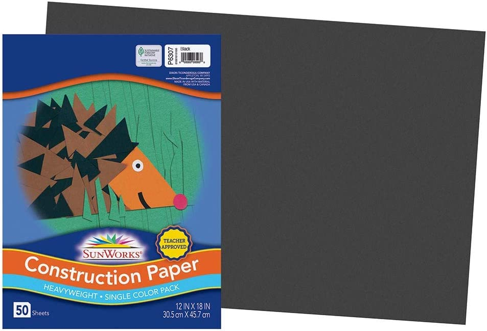 SunWorks 6307 Construction Paper 58 lbs She x 12 New York Mall 50 18 Black Max 53% OFF