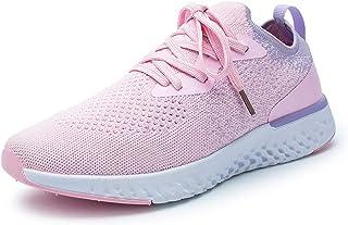 ZLYZS Zapatillas De Running para Mujer, Zapatillas De Jogging De Malla De Punto Zapatillas De Deporte Livianas Ocasionales...