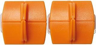 Original Fiskars Cuchillas de repuesto para máquinas de corte de papel, 2 unidades, para corte recto, High Profile TripleTrack Titanium, Naranja, 1004677