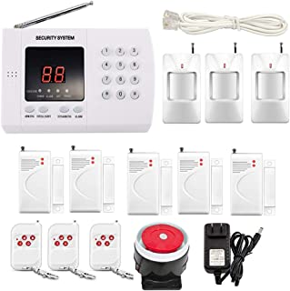 iMeshbean Wireless PIR Home Security Burglar Alarm System Auto Dialing Dialer K05 99 Zones (K05 PSTN 99 zones)