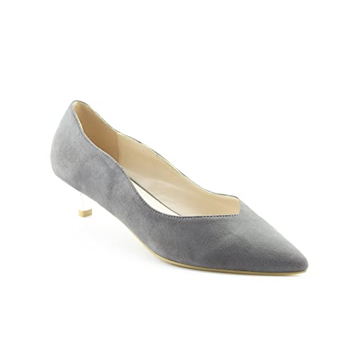 cb851b58cc2 CALICO KIKI Women s Slip-On Pointed Toe Suede Low Kitten Heel Pumps