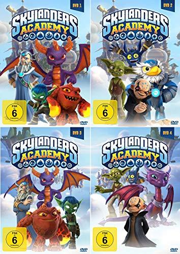 Skylanders Academy DVD 1.1 - 2.2 im Set - Deutsche Originalware [4 DVDs]
