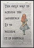 Parksmoonprints Kunstdruck Alice im Wunderland Zitat,