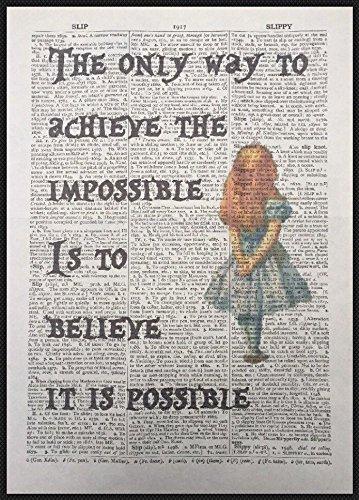 Parksmoonprints - Stampa artistica con citazione di Alice nel paese delle meraviglie