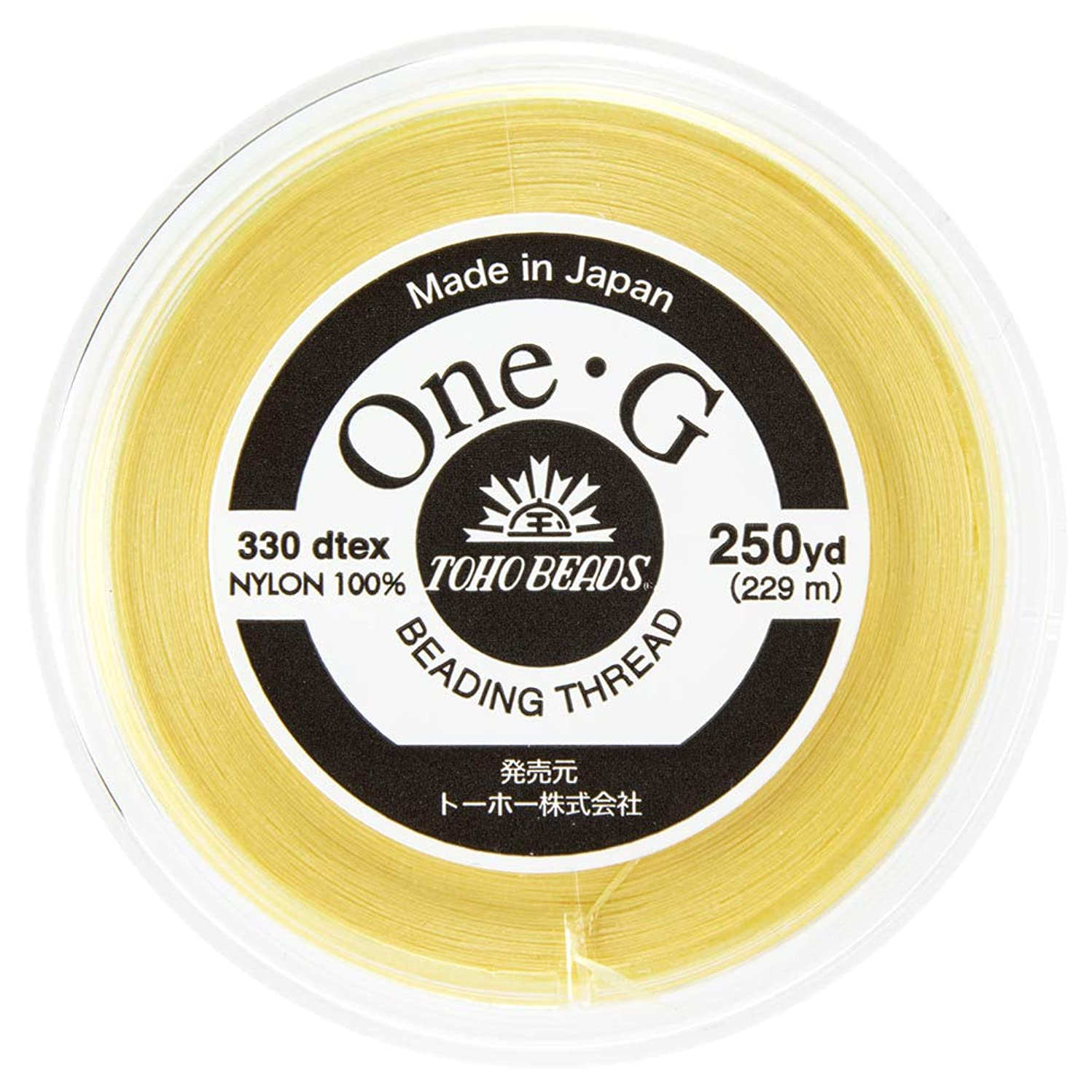 Toho One-G Beading Thread, 250-Yard (228-Meter) Spool - Lt Yellow