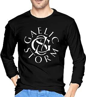 Gaelic-Storm T Shirt Long Sleeve Crew Neck Tee Casual Tops Shirts for Men Black